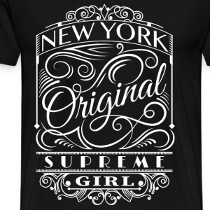 New York girl - Original NY supreme girl cool tee - Men's Premium T-Shirt