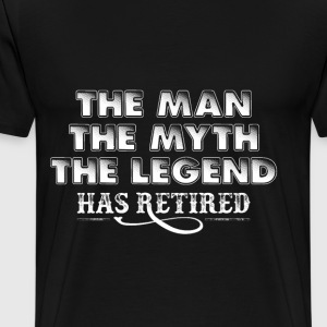 Retired man - He is the myth and the legend tee - Men's Premium T-Shirt