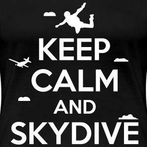 keep calm and skydive T-Shirts - Women's Premium T-Shirt