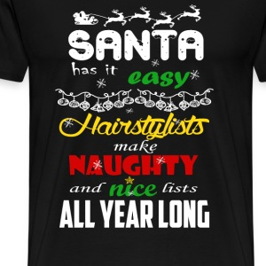 Haircutter - Make naughty and nice list all year - Men's Premium T-Shirt