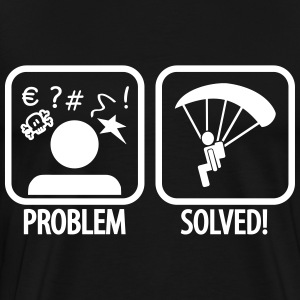 problem solved skydiving T-Shirts - Men's Premium T-Shirt