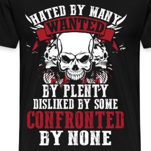 Confronted - Dislike by some confronted by none - Men's Premium T-Shirt