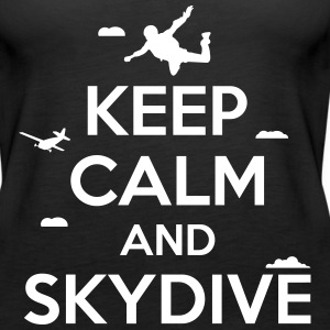 keep calm and skydive Tanks - Women's Premium Tank Top
