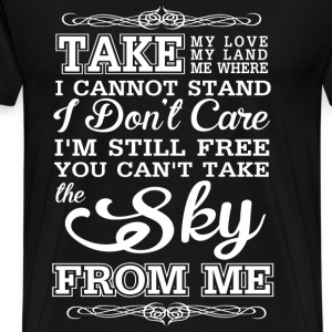 Bungee - Can't take the sky lyrics awesome t-shirt - Men's Premium T-Shirt