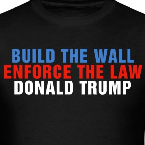 Build The Wall Donald Trump Election President Vot - Men's T-Shirt