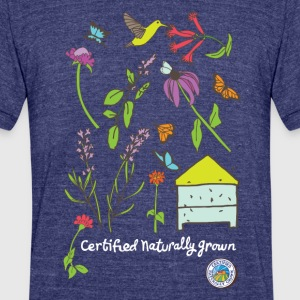 Pollinator and Wildflower Shirt T-Shirts - Unisex Tri-Blend T-Shirt by American Apparel