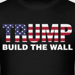 Trump Build The Wall Pro Election President shirt - Men's T-Shirt