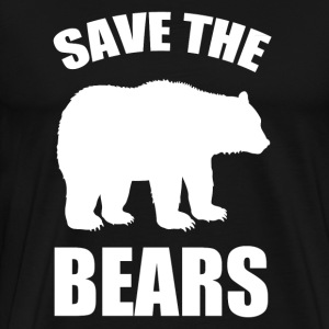 SAVE A BEARS2.png T-Shirts - Men's Premium T-Shirt