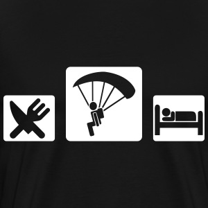 eat sleep skydive T-Shirts - Men's Premium T-Shirt