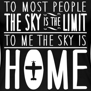 sky is home, not the limit T-Shirts - Women's Premium T-Shirt
