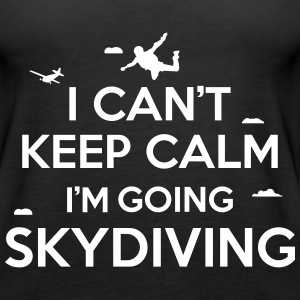 cant keep calm skydiving Tanks - Women's Premium Tank Top