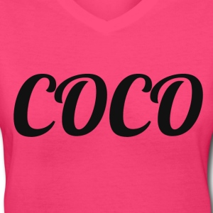 COCO T-Shirts - Women's V-Neck T-Shirt