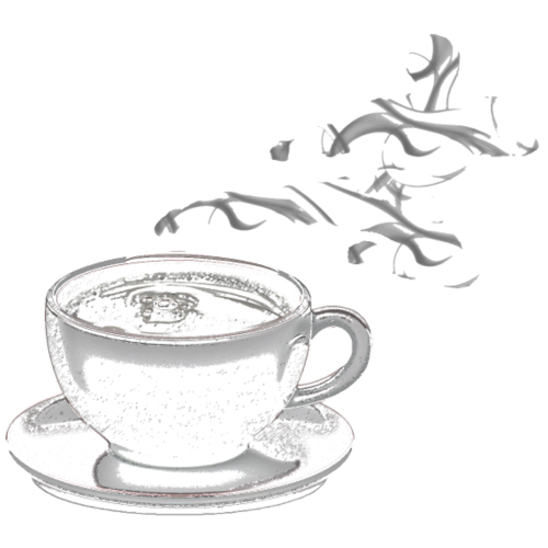 coffee ninja - white background
