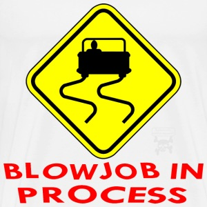 Blowjob In Process  - Men's Premium T-Shirt