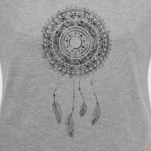Dream Catcher Graphic Tee - Women´s Roll Cuff T-Shirt