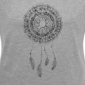 Dream Catcher Graphic Tee - Women´s Rolled Sleeve Boxy T-Shirt