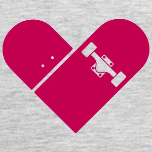 Minimal Skateboard - Heart Logo Design / Icon Tanks - Women's Premium Tank Top