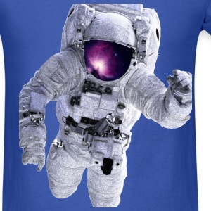 Astronaut Floating away looking at the Galaxy - Men's T-Shirt
