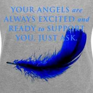 Your Angels are always excited and ready - Women´s Rolled Sleeve Boxy T-Shirt
