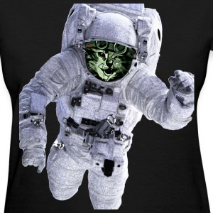 Astronaut Cat Floating away - Women's T-Shirt