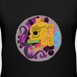 Mayan Skull - Women's V-Neck T-Shirt