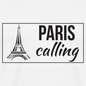Paris Calling Black T-Shirts - Men's Premium T-Shirt