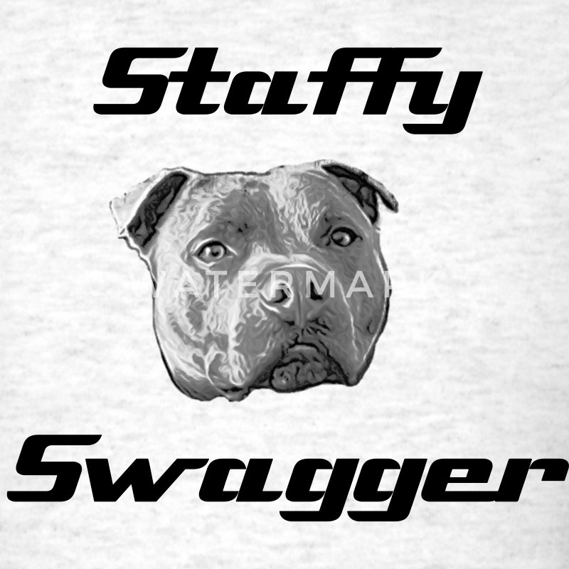 Staffy Swagger - Men's T-Shirt