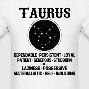 Taurus Zodiac Sign T-Shirts - Men's T-Shirt