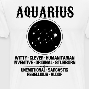 Aquarius Zodiac Sign T-Shirts - Men's Premium T-Shirt