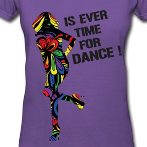 Rainbow  Is Ever Time for Dance V-Neck T-Shirt  - Women's V-Neck T-Shirt
