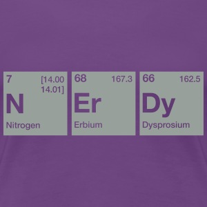 Nerdy Periodic Table Word T-Shirts - Women's Premium T-Shirt