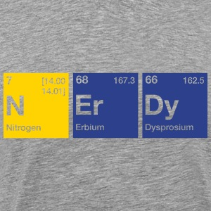 Nerdy Periodic Table Word T-Shirts - Men's Premium T-Shirt