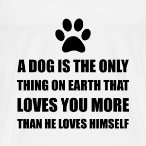 Dog Love You More - Men's Premium T-Shirt