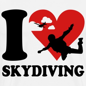 I love skydiving T-Shirts - Men's Premium T-Shirt