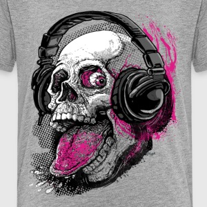 Chillin' Skull Sticking Tongue Out - Kids' Premium T-Shirt