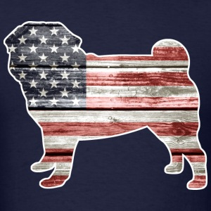 Patriotic Pug T-Shirts - Men's T-Shirt