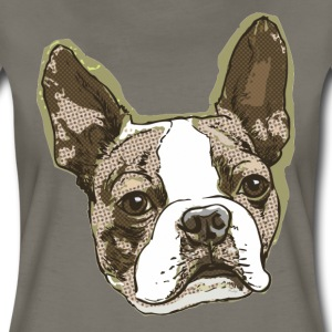 Boston Terrier Big Dot - Women's Premium T-Shirt