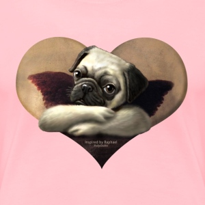 Cherub Pug Angel - Women's Premium T-Shirt