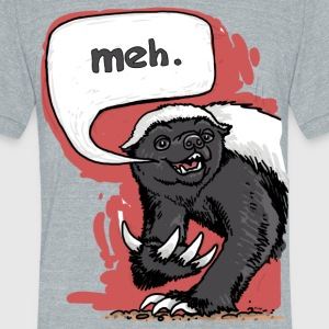 Meh - Unisex Tri-Blend T-Shirt by American Apparel