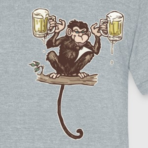 Beer Monkey - Unisex Tri-Blend T-Shirt by American Apparel