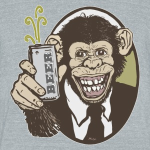 Beer Chimp - Unisex Tri-Blend T-Shirt by American Apparel