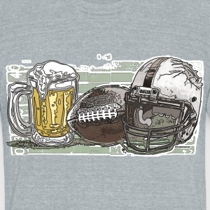 Beer and Football - Unisex Tri-Blend T-Shirt by American Apparel