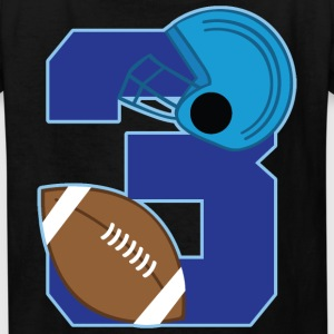 3rd Birthday 3 Football Kids' Shirts - Kids' T-Shirt