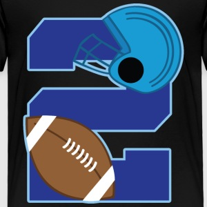 2nd Birthday 2 Football Baby & Toddler Shirts - Toddler Premium T-Shirt