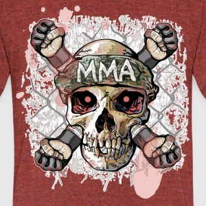 MMA Skull Cross Fists - Unisex Tri-Blend T-Shirt by American Apparel
