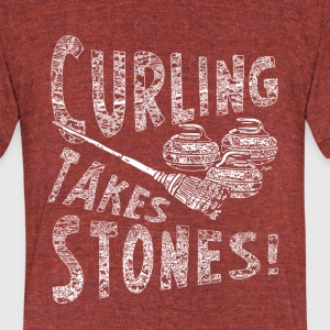 Curling Takes Stones - Unisex Tri-Blend T-Shirt by American Apparel