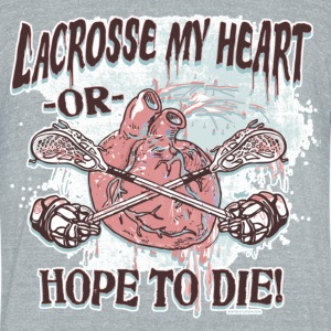 Lacrosse My  Heart - Unisex Tri-Blend T-Shirt by American Apparel