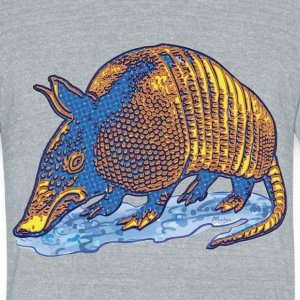 Armadillo Big Dot - Unisex Tri-Blend T-Shirt by American Apparel