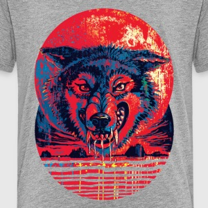 Blood Red Wolf Moon - Kids' Premium T-Shirt