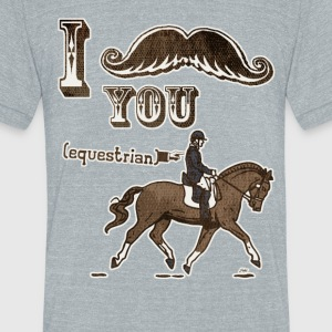 Moustache Equestrian - Unisex Tri-Blend T-Shirt by American Apparel